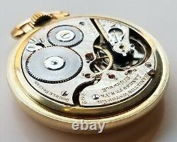 Vintage 1913 Hamilton 992 Railway Special Sz 16 Open Face 21 Jewel Pocket Watch