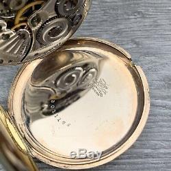 Vintage 1914 WW1 Era Hamilton Pocket Watch Open Face 12S 17J Grade 910 Running