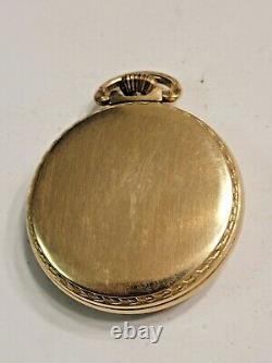 Vintage 1926 HAMILTON 992 21 Jewels Sz 16 RAILROAD 10K Gold-Filled Pocket Watch