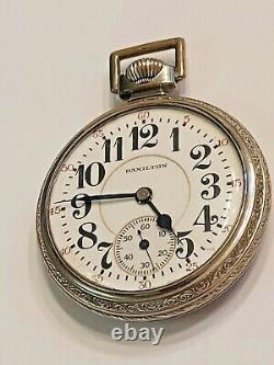 Vintage 1926 Hamilton 21 Jewels Size 16 Railroad Grade Pocket Watch