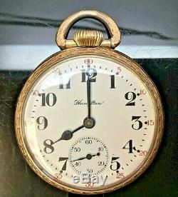 Vintage-1929-hamilton-adjusted 5 Positions-double Roller-21 Jewels-pocket Watch
