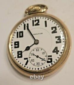 Vintage 1930 Hamilton Railroad 992 16 Size- 21 Jewels Pocket Watch
