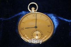 Vintage 1930's 14k Solid Gold Hamilton 17J 10S Grade 917 Pocket Watch Works Grea