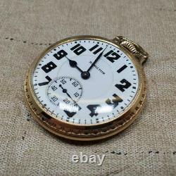 Vintage 1937 Hamilton 16s Railroad Grade Pocket Watch Runs G 992e