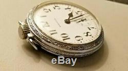 Vintage 1943 Ww2 Era / 16 Size / 21 Jewels / Hamilton 992b Pocket Watch