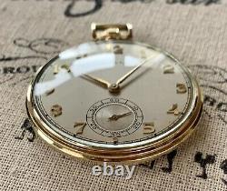 Vintage 1946 Hamilton, #917, mdl 1, 14k GF Pocket Watch, 17j, 3 Adj. Pos. Nice