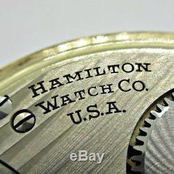 Vintage 1948 Hamilton 992B Railway Special 21j 16s 10k Gold Filled Pocket Watch