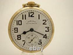 Vintage 1950 Hamilton Railway Special 992B 21J Adj Temp & 6 Pos 16S Pocket Watch
