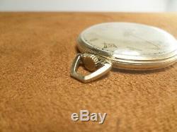 Vintage 1954 Clay Hamilton Masonic Freemason 10K Gold Filled Pocket Watch