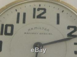 Vintage 21 Jewels Hamilton Pocket Watch 992 B Railway Special Keeps Time