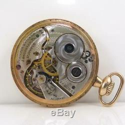Vintage Antique 1924 Gold Filled 16s 17j Hamilton Pocket Watch QYD4