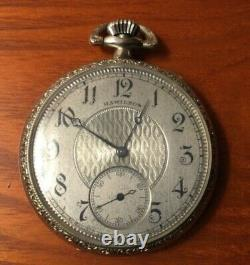 Vintage Art Deco 12s Hamilton 910 17j White Gold Filled Pocket Watch Nice 1922