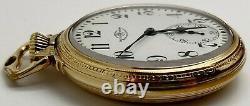 Vintage Ball Hamilton 999N 23 jewel 16s RR Railroad grade pocket watch Running