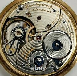 Vintage Ball Hamilton 999P 21 jewel 16s RR Railroad grade pocket watch Running