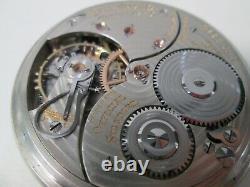 Vintage Ball Railroad Hamilton 14K White Gold Filled Pocket Watch 21 Jewels