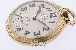 Vintage Hamilton 10k Gold Filled 992B Grade 21 Jewel 16s Railroad Pocket Watch