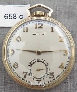 Vintage Hamilton 21 Jewel Grade 921 Art Deco Pocket Watch, YGF
