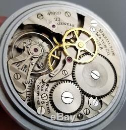Vintage Hamilton 4992b 22j Gct Us Military Pilots Hack Pocket Watch An5740