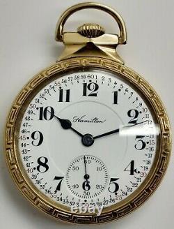 Vintage Hamilton 992 21 jewel 16s RR Railroad grade pocket watch Nawco Running