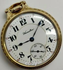 Vintage Hamilton 992 21 jewel 16s RR Railroad grade pocket watch Running