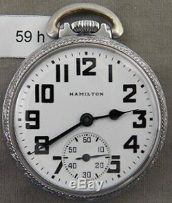 Vintage Hamilton 992B 21Jewel Railroad Pocket Watch