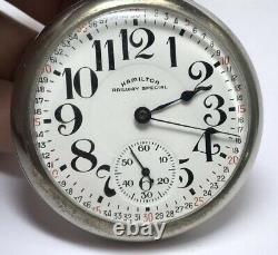 Vintage Hamilton Co Railway Special 17 Jewel Railroad Pocket Watch 974 2401223