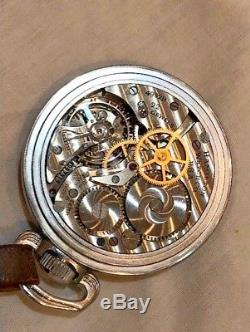 Vintage Hamilton GCT 24 Hour Manual Wind Military Pilot Pocket Watch
