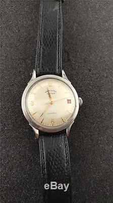 Vintage Hamilton Illinois Automatic Wristwatch With Red Date