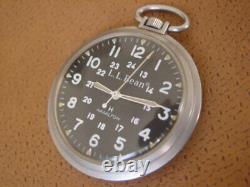 Vintage Hamilton LL Bean Pocket Watch. Cal. 649. Hack Setting