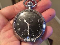 Vintage Hamilton Model 23 Chronograph Pocket Watch, 19 J