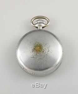 Vintage Hamilton Model 23 Military Chronograph Chronometer Pocket Watch