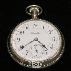 Vintage Hamilton Pocket Watch Yr. 1912 Transparent Showcase Skeleton Model 978