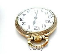 Vintage Hamilton Railroad Pocket Watch 10 Rgp 992b 21 Jewels Size 16 992b 1952
