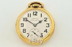 Vintage Hamilton Railroad Special 992b 10k Gold Filled Pocket Watch 21 Jewels