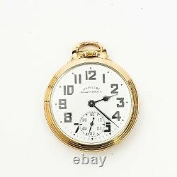 Vintage Hamilton Railway Special 10k Gf 992b 21j Pocket Watch