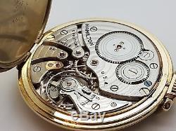 Vintage Hamilton Size 12 Pocket Watch 21 Jewel Cal 921 in J. Boss Case 18A