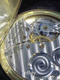Vintage Hamilton USA 14k Gold Filled 17 Jewel Pocket Watch Mint Carl Goehring