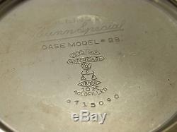 Vintage Illinois Bunn Special 16 Size Hamilton Made In 1933 23 Jewel 7c