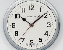 Vintage NICE Hamilton 22 Jewel 4992B 12hr Military Pocket Watch AN5740! Running