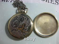 Vintage Vintage 14k Gold Filled Hamilton 21j 992 Pocketwatch Double Roller, USA
