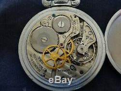 Vintage WW2 1944 Hamilton G. C. T. 4992B 22 Jewels 6 Pos. Military Pocket Watch