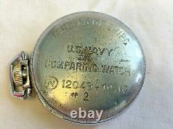 Vtg Hamilton US Navy Comparing Pocket Watch Military Ship Jewelry 17j Working