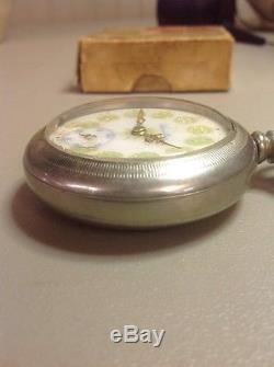 WORKS! Vintage Hamilton 926 18s 17J Green Gold Porcelain Dial Pocket Watch