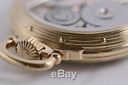 WOW 1912 Hamilton 950 16S 23J Railroad Pocket Watch Salesman Like Display Back