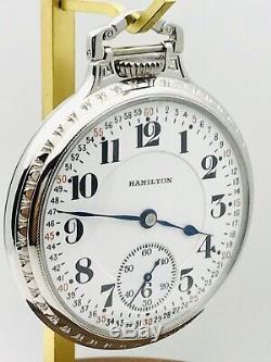WOW 1920 Hamilton 950 16S 23J Stainless Steel BOC Salesman Railroad Pocket Watch
