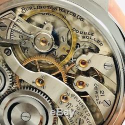 WOW 1921 Illinois 16S 21J 107 Burlington RR Pocket Wrist Watch Salesman Accurate