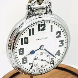 WOW 1927 Hamilton 992 16S 21J Display BOC Bar Over Crown Railroad Pocket Watch