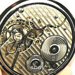 WOW 1930 Hamilton 992 16S 21J Display BOC Bar Over Crown Railroad Pocket Watch