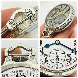 WOW 1940 Hamilton 950E 16S 23J SS BOC Salesman Railroad Pocket Watch Good Runner