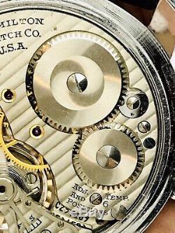 WOW 1948 Hamilton 992B 16S 21J Railroad Pocket Wrist Watch Salesman Accurate